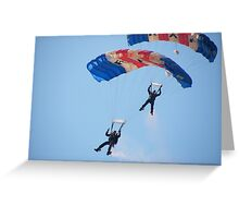 The RAF Falcons Freefall Parachute Display Team 5 Greeting Card