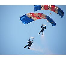 The RAF Falcons Freefall Parachute Display Team 5 Photographic Print