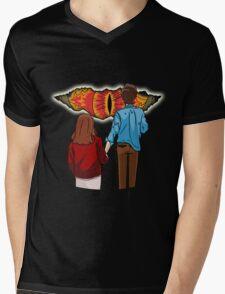 What's behind the crack? Mens V-Neck T-Shirt