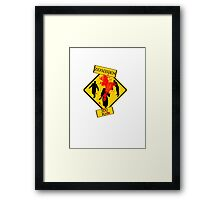 Zombies Crossing Framed Print