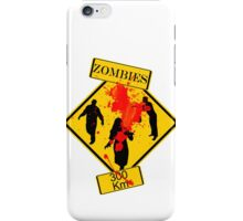 Zombies Crossing iPhone Case/Skin