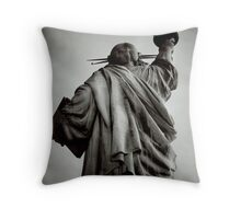 From the Eyes of the American Oppressed Throw Pillow