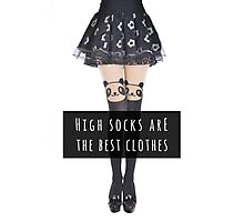 High socks are the best clothes Photographic Print
