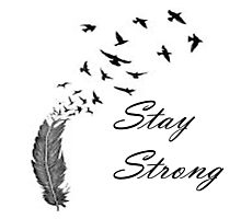 Stay Strong Feathers Photographic Print