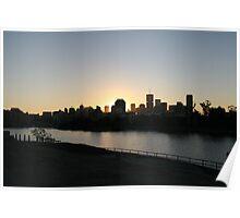 Brisbane at sunset Poster