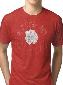 Isometric Cube Tri-blend T-Shirt