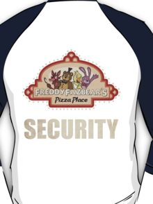 Five Nights at Freddy's Freddy Fazbear's Security Logo T-Shirt