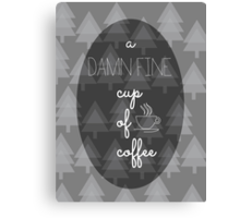 Twin Peaks Damn Fine Cup of Coffee Agent Cooper Canvas Print