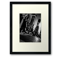 Lack of Time(s Square) Framed Print