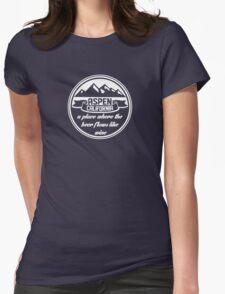 Aspen, California Womens Fitted T-Shirt
