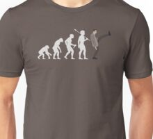 Evolution of Bean (White) Unisex T-Shirt