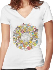 A test of character Women's Fitted V-Neck T-Shirt