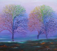 Rainbow Trees by Clararty