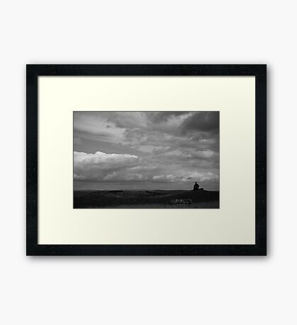Sketching the View Framed Print