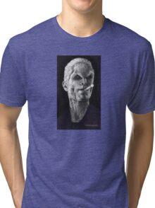 School Hard - Spike - BtVS Tri-blend T-Shirt