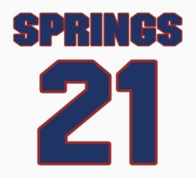National football player Kirk Springs jersey 21 by imsport