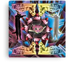 ALL CEILING CAT WITH LONGCAT DONORS Canvas Print