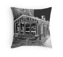 burgers & shakes Throw Pillow