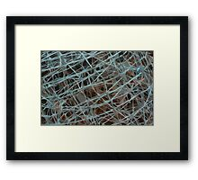 Blue Wire 2 Framed Print