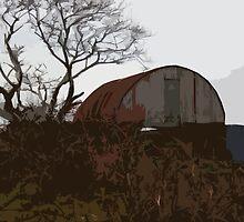 Barn in January by joconti