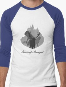 The Marauders Grayscale Men's Baseball ¾ T-Shirt
