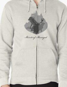 The Marauders Grayscale Zipped Hoodie