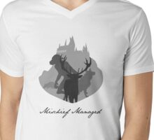 The Marauders Grayscale Mens V-Neck T-Shirt