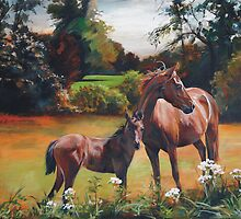 Mum & Foal by Melissa Mailer-Yates