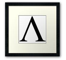 Lambda. Greek alphabet. Framed Print