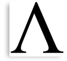 Lambda. Greek alphabet. Canvas Print