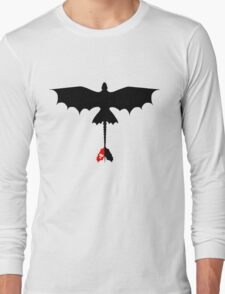 Toothless Silhouette Long Sleeve T-Shirt