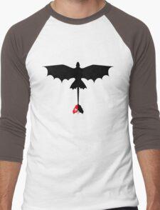 Toothless Silhouette Men's Baseball ¾ T-Shirt