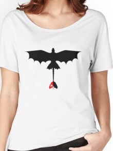 Toothless Silhouette Women's Relaxed Fit T-Shirt