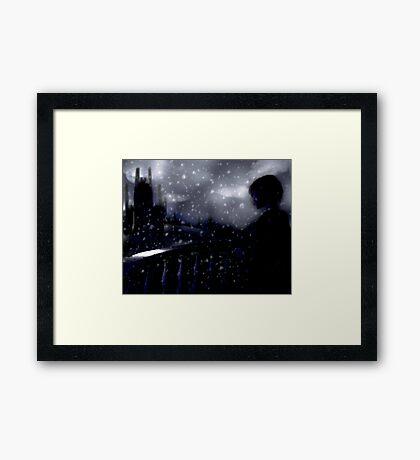 snow scene (the longing) Framed Print