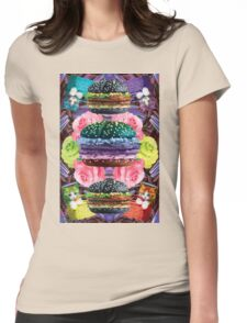 WELCOME TO GOTH BURGER  Womens Fitted T-Shirt
