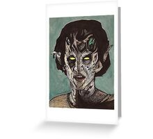 The Dark Age - Eyghon/Jenny - BtVS Greeting Card