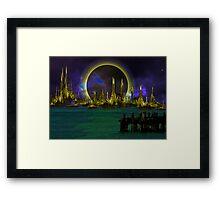 the city Framed Print