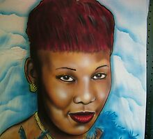 airbrushed potrait  tee shirt by Airbrushr  Rick Shores