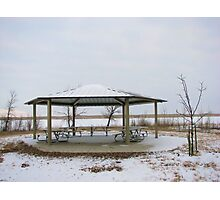Gazebo In The Winter Time! Photographic Print