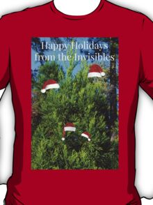 The Invisible Family's Annual Christmas Photo Card T-Shirt