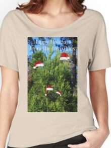 The Invisible Family's Annual Christmas Photo Card Women's Relaxed Fit T-Shirt