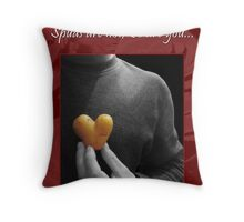 Roses, Violets and Spuds Throw Pillow