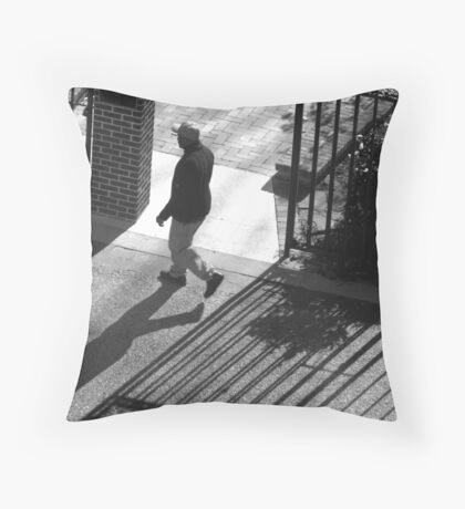 Walkin.. all by myself Throw Pillow
