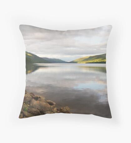 Somewhere not too far from Glasgow Throw Pillow