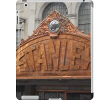 Classic Facade, Stanley Theater,  Jersey City, New Jersey iPad Case/Skin