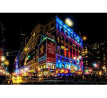 A December Evening at Macy's  Photographic Print