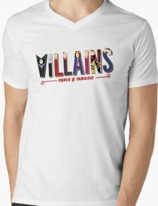 Villains Mens V-Neck T-Shirt