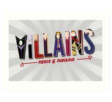 Villains Art Print
