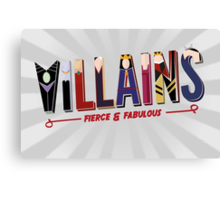 Villains Canvas Print