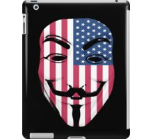 Guy Fawkes American Flag iPad Case/Skin